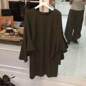 Eloquii olive green dress 16